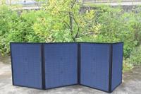 Xinpuguang Solar Panel Charger 80W 9V 18V Foldable Portable Black Fabric Waterproof Power Bank Phone 12V Battery Dual USB 5V 2A